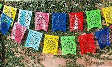 "Mexican PLASTIC Fishtail Papel Picado Banner ""Flor de Sol"" - Design & Colors as"