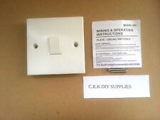 10 x white plastic 10 ax 1-gang 2-way light switch. B.S3676 compliant.