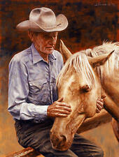 """Old Friends"" Don Stivers Western Limited Edition Giclee Print"