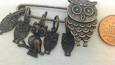 OWL CHARM Knitting Stitch Markers - Seconds - 3 FOR 2 - Great Knitting Gifts