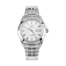 Relojes de pulsera Seiko 5 de acero inoxidable plata