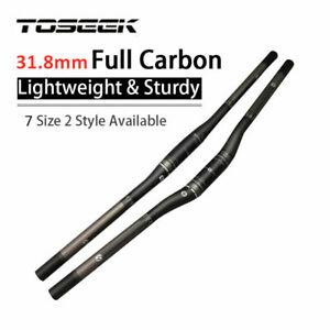 3K Carbon MTB Bike Riser Handlebar 31.8*680 Lightweight Bicycle Flat Bar 700/720