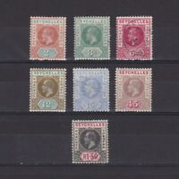 SEYCHELLES 1912, SG# 71-80, part set, MH/Used