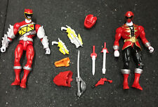 Power Rangers Dino Charge and Pirate Red Ranger 6 inch