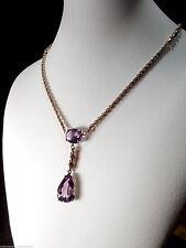 9 Carat Amethyst Rose Gold Edwardian Fine Jewellery