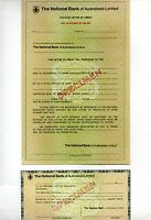 The National Bank of Australasia Circular Letter of Credit Specimen  (a*)