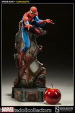"SPIDER-MAN by J. SCOTT CAMPBELL Polystone 19"" Statue by Sideshow_200265_NRFB"