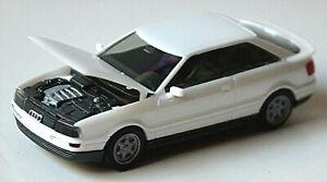 Audi 90 Quattro B3 Coupe 1988-91 White Metallic 1:87 Herpa High Tech 025201
