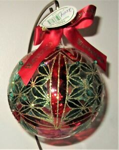 Waterford Holiday Heirloom KILBARRY Stained Glass Christmas Ornament NIB New+Tag