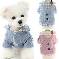 Hundemantel Hundepullover Katze Welpe Hunde Fleece Kleidung 5 Größe Winter Warm