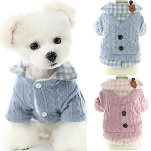 Pet SWEATER Clothes Chihuahua Yorkie Small Dog Coat Jacket Knit Sweater Jumper