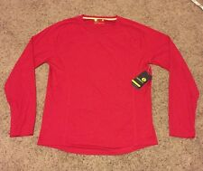 NWT XERSION BRAND MENS RED LONG SLEEVE FITTED ATHLETIC SHIRT SIZE Small