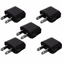 5 Pack EU Euro Europa nach US USA Power Jack Wandstecker Konverter Reiseadapter