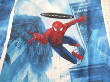 "Spiderman 3 panel 26"" x 27"" 100% cotton fabric 2 panels FREE SHIP"