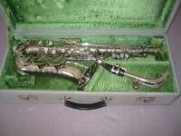 "Beautiful old Alto saxophone ""Classic Super Amati Kraslice 162752 II"" Czechoslov"
