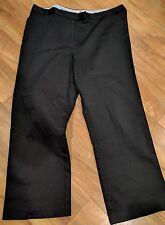 Tommy Hilfiger Women's Size 12 Cotton Stretch Capri Flat Front Pants In Black