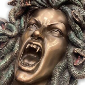 Medusa Head of Snakes Gothic Wall Decor !!!Monster Gift!!! Plaque Statue Bronze