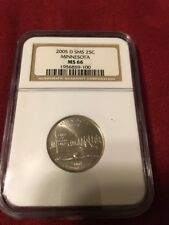 2005 D SMS Minnesota State Quarter graded MS 66 by NGC! SATIN Finish