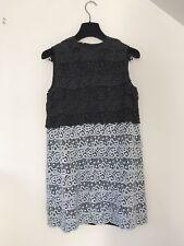 Black And Silvery Blue Miu Miu Metallic Lace Crochet Dress, Size 38 IT