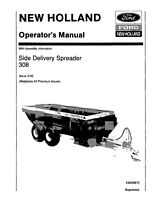 NEW HOLLAND 308 Side Delivery Spreader Assembly Infrormation OPERATORS MANUAL