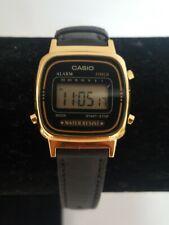 CASIO LA670WE Vintage Gold Plated Ladies Digital LCD Watch #33