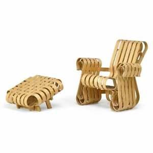 Frank Gehry Power Play Chair & Ottoman for Knoll Studio - Rare!