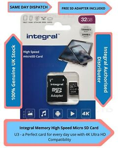 32GB Micro SD Memory Card Class 10 U3 SAMSUNG GALAXY J7 Prime 2,J7 Pro/ V,J2 4K