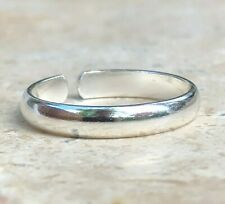 Band Toe Ring New Sterling Silver Solid Polished