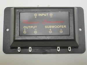 Rockwood Passive Subwooferweiche Frequenzweiche Bass Subwoofer Tieftöner NEU