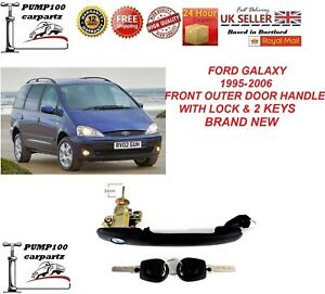 FORD GALAXY 95-06 OUTER EXTERIOR  FRONT DOOR  HANDLE LOCK & KEYS LH=RH 22MM NEW