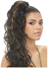 CLASSICAL GIRL BY MODEL MODEL GLANCE DRAWSTRING PONYTAIL LONG CURLY STYLE