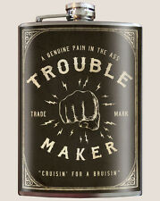Genuine Trixie & Milo Flask With Funnel - Trouble Maker