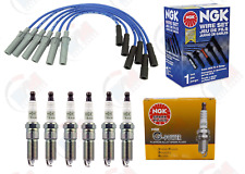 Ngk Platinum Spark Plugs + Ngk Wire Set for 2008-2010 Dodge Caravan 3.3L 3.8L