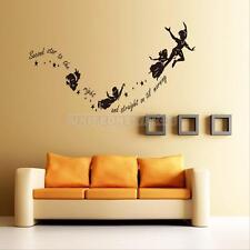 HOT Tinkerbell Star Peter Pan Wall Decal Kids Room Art Mural Home Decor Stickers