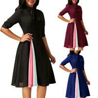 Women Long Sleeve Evening Party Dress Mini Dress Casual Normal Work Office Wear