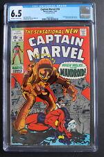 CAPTAIN MARVEL #18 1st Carol Danvers Gains MS Powers 1969 Kree MOVIE CGC FN+ 6.5