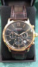 SEKONDA Hombre Cronógrafo 50 M (3406) Reloj con Banda de Cuero ~ Nuevo en Caja ~ sin reserva.