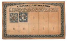 US Postal Savings Card w/ Scott # PS4 x2 Revenue Stamps