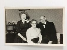 Vintage BW Real Photograph #AL: Ladies Man Formal Dress: Bakerlite Radio
