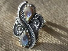 Sterling Silver Abalone Shell Ring Size 5