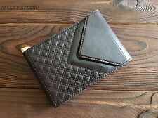 Handmade Leather Money Clip Wallet Cash Holder Clip Unisex Minimalist Wallet