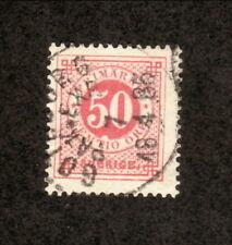 Sweden--#36 Used--1878 Numeral Stamp
