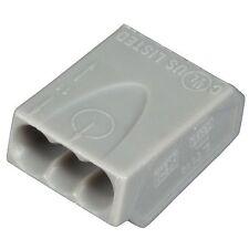 ViD 100 Stück Verbindungsklemmen/Steckklemmen 3 x 2,5 mm² Dosenklemmen 3-polig