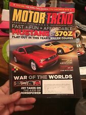 Motor Trend Magazine February 2009 Mustang Nissan 370Z Honda Clarity Fuel Cell