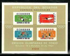 WORLDWIDE  OLYMPICS  1964  ECUADOR  SOUVENIR LIST, LOT  # 8 B