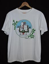 Rare Vtg Snoopy Woodstock Christmas T-shirt Peanuts Charlie Brown Usa Made M