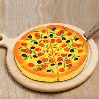 6 PCS Baby Pizza Toy Party Fast Food Cooking Cutting Pretend Play Set Gift Toy