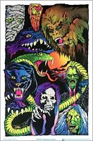 "Nightmare Creatures Blacklight Poster - Flocked - 23"" x 35"""