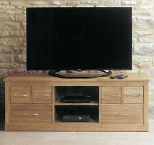 MoBEL Solid Oak Furniture Widescreen Television Cabinet Unit Living Room COR09B