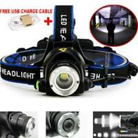 Super Bright 90000LM T6 LED Headlamp Headlight Flashlights Head Torch 18650 Camp